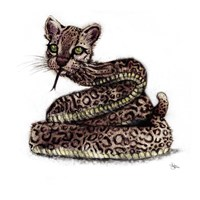 Ocelot Snake Fine-Art Print