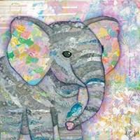 Sweet Baby Elephant I Fine-Art Print