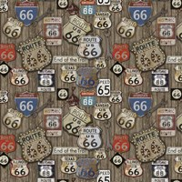 Route 66 on Wood Fine-Art Print