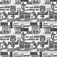 Route 66 - Grey Fine-Art Print