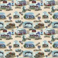 Route 66 Landmarks I Fine-Art Print