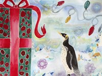 Merry Christmas Penguin Fine-Art Print