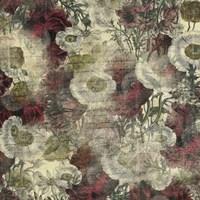 Floral Boquet Scripty Collage Fine-Art Print