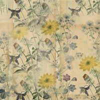 Floral Collage Layered Papers Fine-Art Print