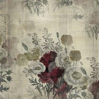 Floral Collage White Space Fine-Art Print