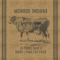 Cow Feed Sack Fine-Art Print