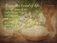 John 6:35 I am the Bread of Life (Grapes) Fine-Art Print