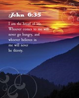 John 6:35 I am the Bread of Life (Hills) Fine-Art Print