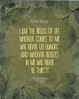 John 6:35 I am the Bread of Life (Leaves) Fine-Art Print
