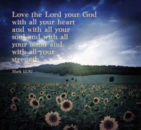 Mark 12:30 Love the Lord Your God (Sunflowers) Fine-Art Print
