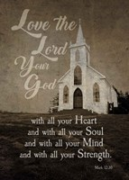 Mark 12:30 Love the Lord Your God (Church) Fine-Art Print
