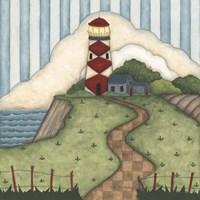 Red Diamond Lighthouse Fine-Art Print