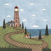 Red And White Lighthouse Fine-Art Print