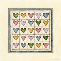 Hearts Patchwork Fine-Art Print
