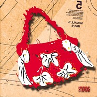 Bow Purse White On Red Fine-Art Print