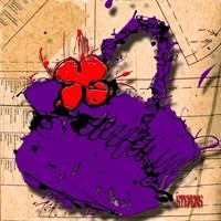Flower Purse Red On Purple Fine-Art Print