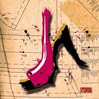 Suede Heel Pink Fine-Art Print