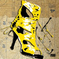 Yellow Strap Boot Fine-Art Print