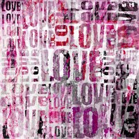 Grunge Love Square Fine-Art Print