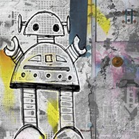 Girly Grunge Robot Fine-Art Print