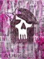 Pink Skull Princess Fine-Art Print
