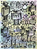 Robot Crowd Color Fine-Art Print