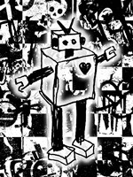 Robot Graffiti Fine-Art Print