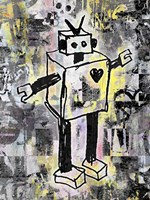 Robot Graffiti Color Fine-Art Print
