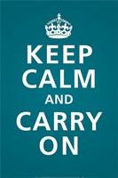 Keep Calm (Teal) Fine-Art Print