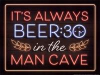 Neon Beer 30 Man Cave Fine-Art Print