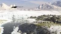 A Receding Glacial Scene Circa 18,000 Years Ago Fine-Art Print