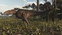 Acrocanthosaurus Dinosaur Roaming A Cretaceous Landscape Fine-Art Print
