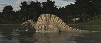 Spinosaurus Hunting For Fish In A Lake Fine-Art Print