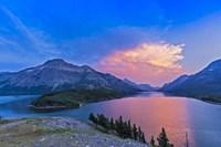 Sunset at Waterton Lakes National Park, Alberta, Canada Fine-Art Print