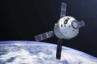 Orion Module in orbit above Earth Fine-Art Print