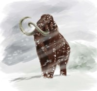 Mammuthus Primigenius walking through a Blizzard Fine-Art Print