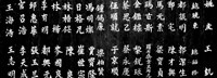 Close-up of Chinese ideograms, Beijing, China BW Fine-Art Print