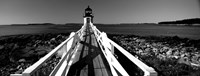 Marshall Point Lighthouse, built 1832, rebuilt 1858, Port Clyde, Maine Fine-Art Print