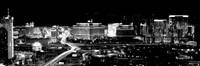 City lit up at night, Las Vegas, Nevada Fine-Art Print