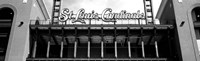 Low angle view of the Busch Stadium in St. Louis, Missouri Fine-Art Print