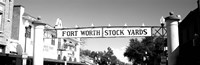 Signboard over a street, Fort Worth Stockyards, Fort Worth, Texas Fine-Art Print