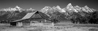 Old barn on a landscape, Grand Teton National Park, Wyoming Fine-Art Print