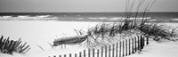 Fence on the beach, Alabama, Gulf of Mexico Fine-Art Print