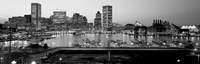 Inner Harbor, Baltimore, Maryland BW Fine-Art Print