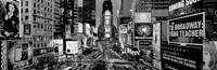 High angle view of traffic on a road, Times Square, Manhattan, NY Fine-Art Print
