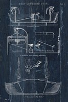 Boat Launching Blueprint I Fine-Art Print