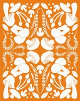 Retro Mushroom Otomi Silhouette Fine-Art Print