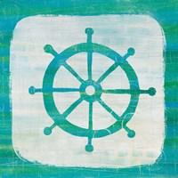Ahoy IV Blue Green Fine-Art Print