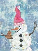Snowman with Owl Fine-Art Print