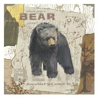 Bear Sleep (square) Fine-Art Print